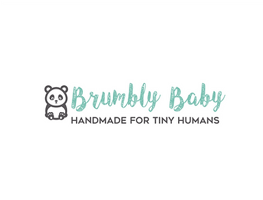 """Our logo """"Brumbly Baby - Handmade for Tiny Humans"""""""