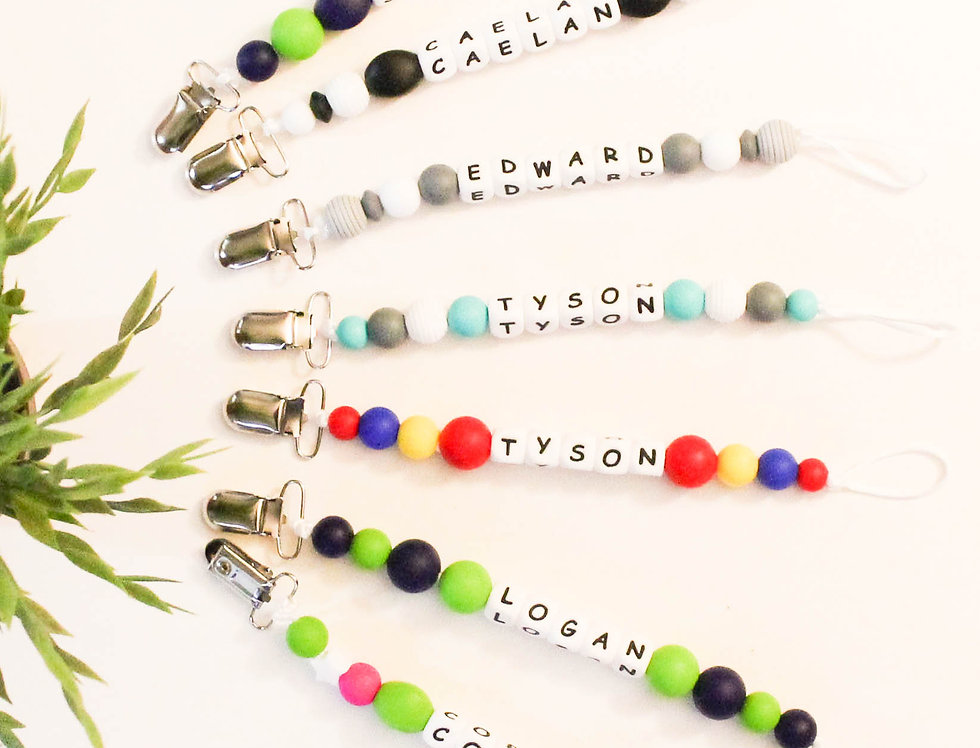 Personalized Pacifier Clips