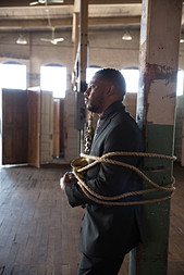 Stantawn Kendrick with alto saxophone