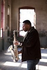 Stantawn Kendrick tenor saxophone with light