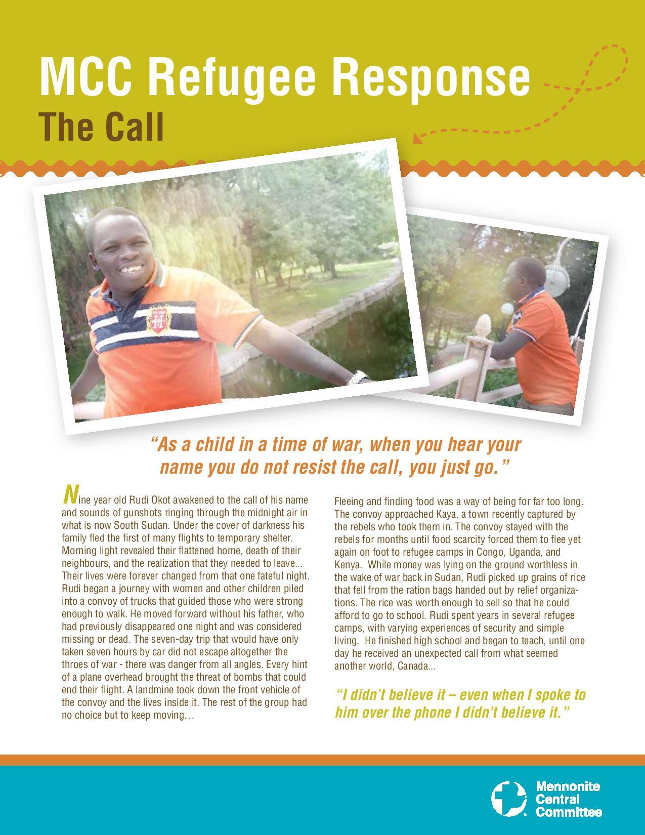 MCC Refugee Sponsorship: Rudi Okot