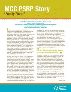 MCC Refugee Sponsorship: Ruez Family