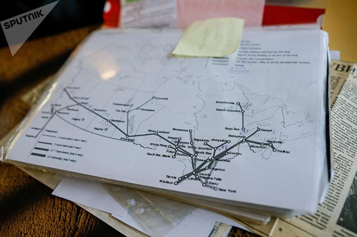 Планируемый маршрут велопробега Георгия Соколовского по Канаде  Фото: Sergey Melkonov /  Sputnik