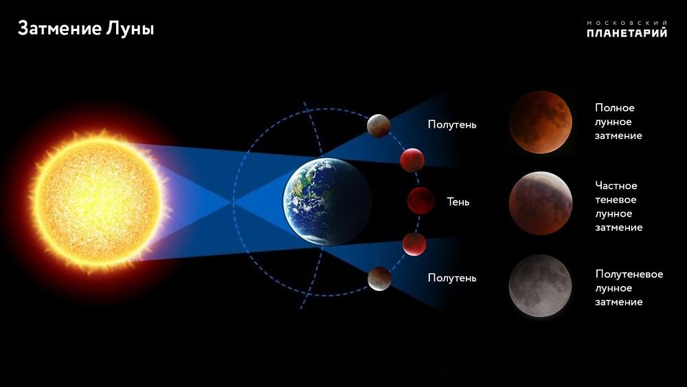 Затмение Луны. Фото: Московский планетарий