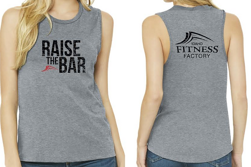 Woman's Tank Top, Grey, Raise the Bar