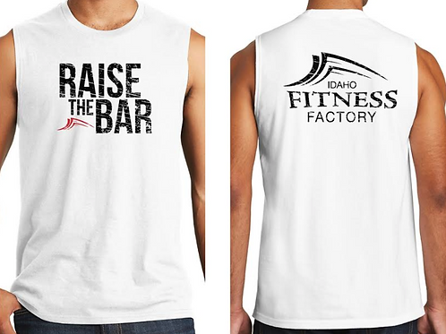 Men's Muscle Tank, White, Raise the Bar