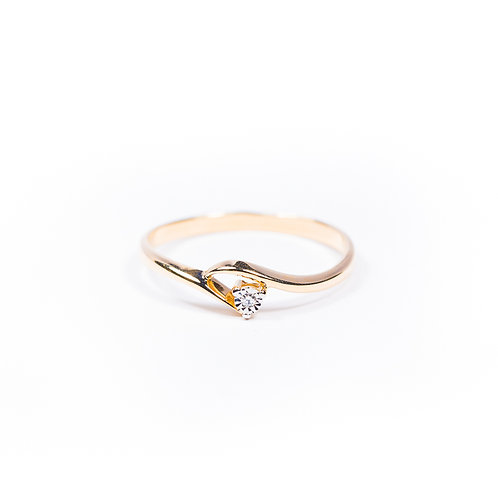 14 Ct Rose Gold Ring with Diamond