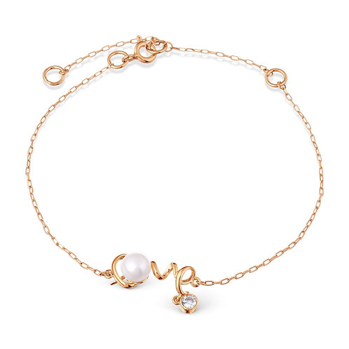 14 Ct Rose Gold Bracelet with Gemstones