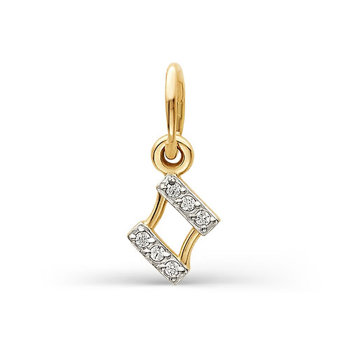 14 Ct Rose Gold Pendant with Cubic Zircon