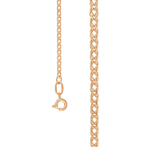 585/14 Ct Rose Gold Chain Double Rhomb