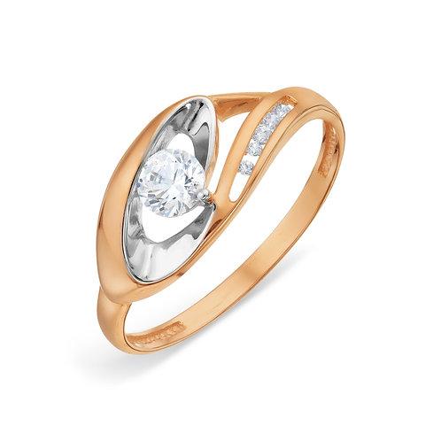 14 Ct Rose Gold Ring with Crystal Swarovski