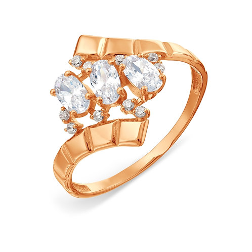 14 Ct Rose Gold Ring with Cubic Zircon