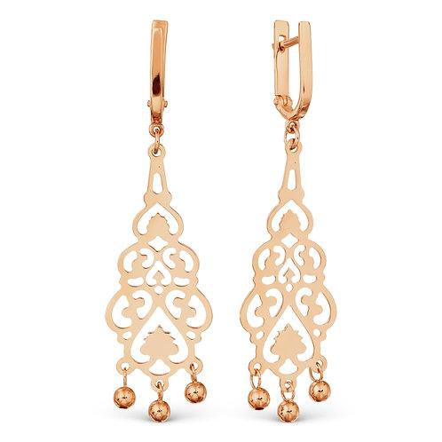 14 Ct Rose Gold Earrings