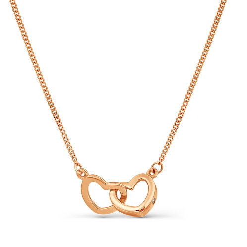 14 CT Rose Gold Necklace with Cubic Zircon