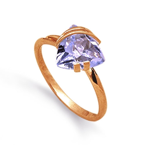 14 Ct Rose Gold Ring with Amethyst