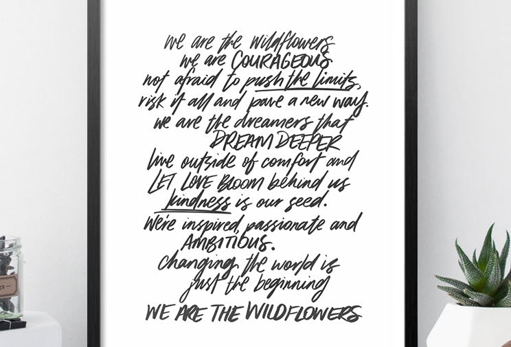 We Are The Wildflowers - Original Art Print - A2
