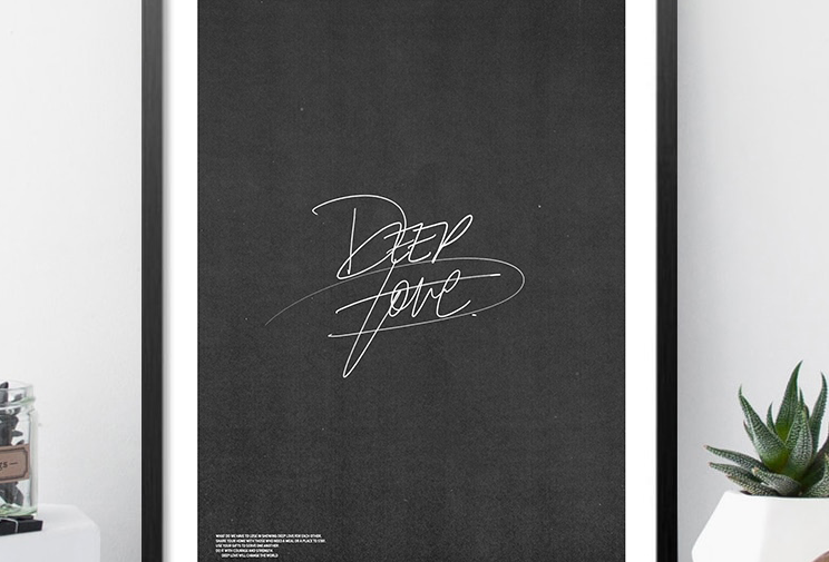 Deep Love - Original Art Print - A2