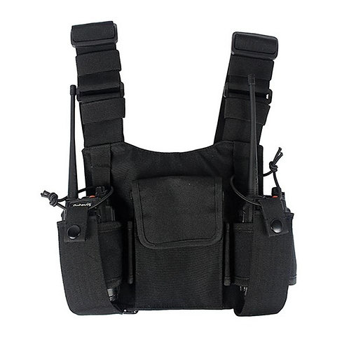 Abbree Radio Chest Harness Chest Front Pack Pouch Holster Vest