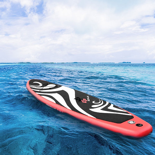 10' Inflatable Stand up Adjustable Fin Paddle Surfboard with Bag