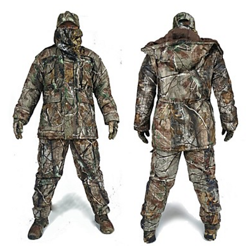 Men's Camo Hunting Suit Outdoor Thermal / Warm Waterproof Windproof Breathable