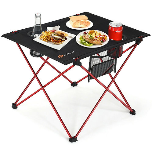 Foldable Camping Picnic Table with Cup Holders