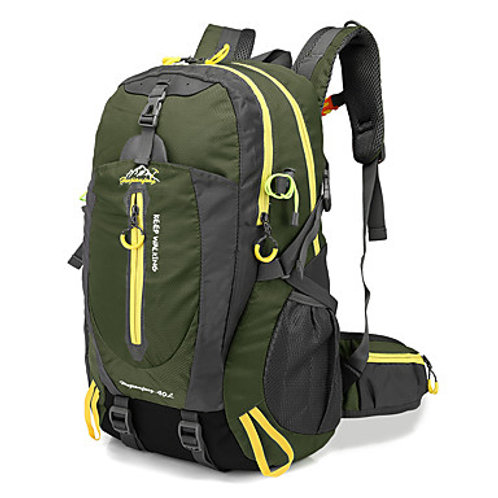 40 L Hiking Backpack Breathable Straps - Multifunctional Lightweight Rain Water