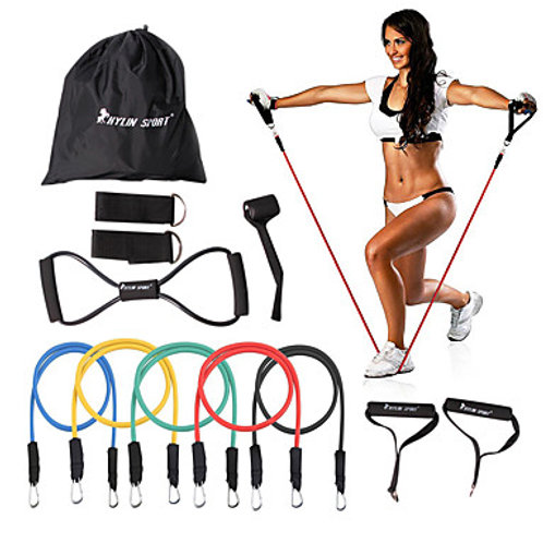 KYLINSPORT Resistance Band Set with Carrying Case and Ankle Strap