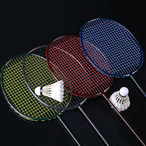 Professional Full Carbon Weave Ultralight Badminton Racket With String Bags