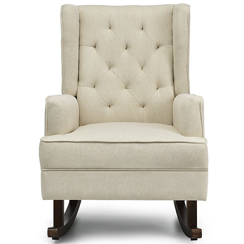2 in 1 Tufted Wingback Rocking Chair
