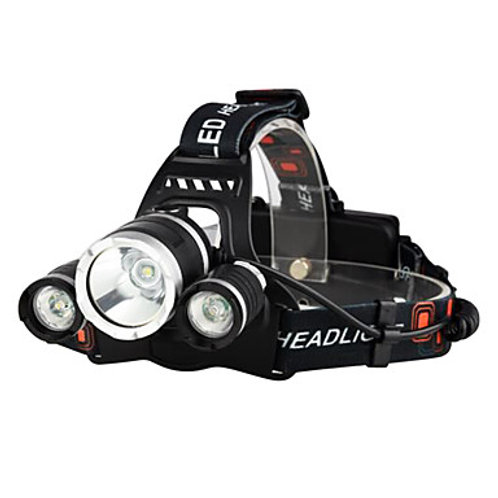Light Headlight Waterproof Rechargeable 5000 lm LED with Batteries and Charger