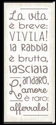 """Targa Arredo """"Vita Breve"""""""