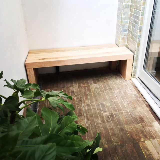 #bespoke #oak #bench made on site for a