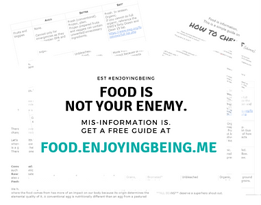 EnjoyingBeing free food information card