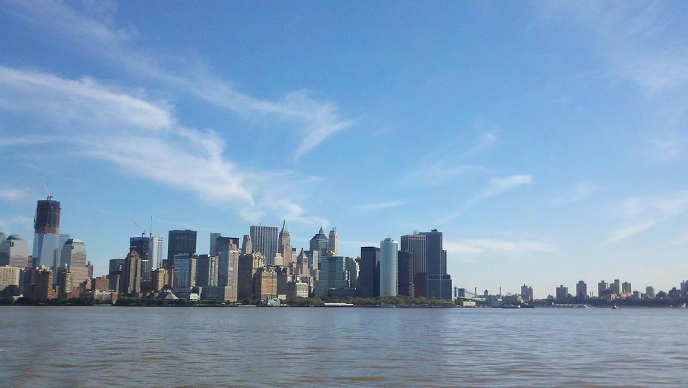 World Trade Center under construction. Lower Manhattan.