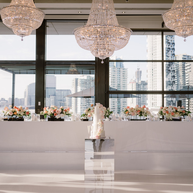 White Gloss Dancefloor, Bridal Table, St