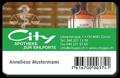 Kundenkarte City-Apotheke, Kreis 1