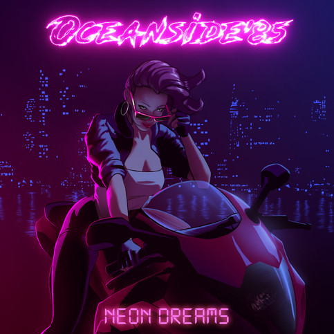 Wala!! The new cover art from Sam Todhunter for my upcoming album NEON DREAMS!!