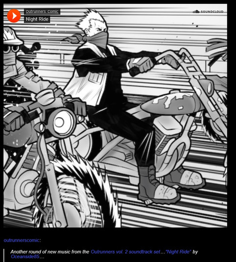 Night Ride featured in OutRunners Comics!