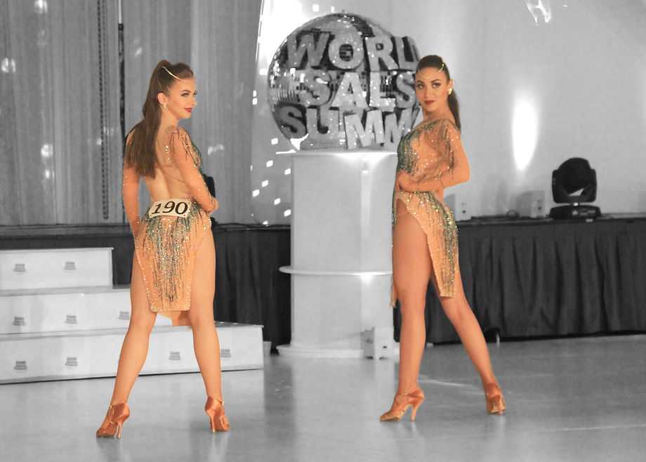 Student and teacher competing at the world Salsa championships