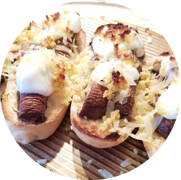 Roasted Mushroom Sandwich