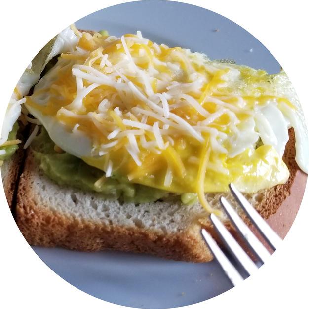 Guac Toast w/Eggs