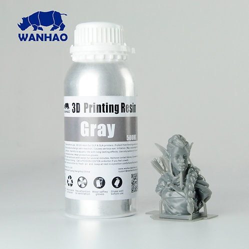 Grey Water Washable Wanhao Resin 500ml