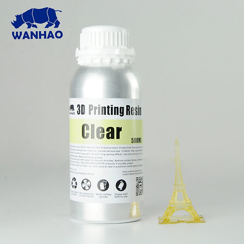 Clear Wanhao Resin 500ml