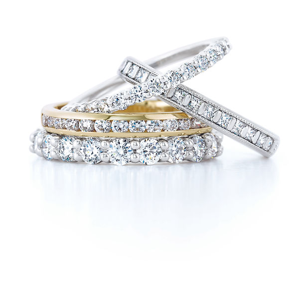 Evearts Jewelers Diamond Wedding bands .