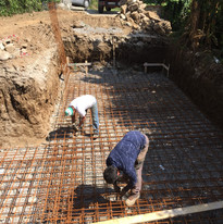 Iron Work Pool Constuction