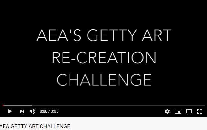 AEA Getty Art Re-Creation Challenge Video