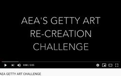 AEA Getty Art Re-Creation Challenge Video