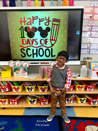 AEA Child 100 Days of School