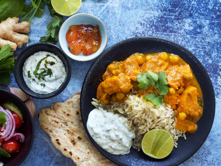 Delicious and super simple sweet potato and chickpea curry