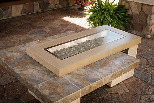Brown Uptown Linear Gas Fire Pit Table